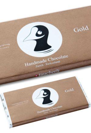 Taucherli Schokolade Gold 100g handmade