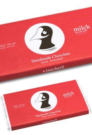 """Taucherli Schokolade """"Milch"""" Tafel 100g"""