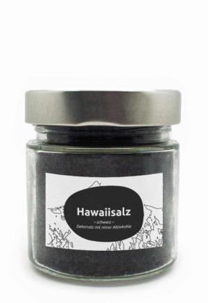 Schwarzes Hawaiisalz im Delikatessen Shop