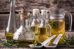 Olivenöl im Delikatessen-Shop