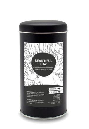 153g Laromi Beautiful Day Tee in einer eleganten, schwarzen Aromadose