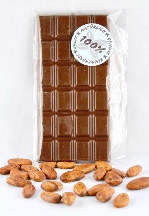 Schweizer Milchschokolade ohne Zuckerzusatz