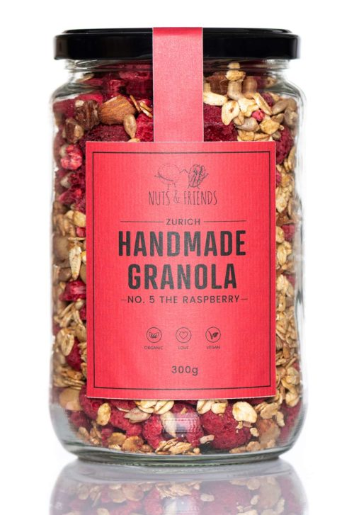 Nuts and Friends Granola No.5 Raspberry front
