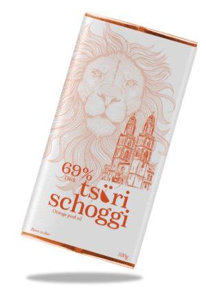 Orange Peel Oil Tsüri Schoggi 69% von Taucherli